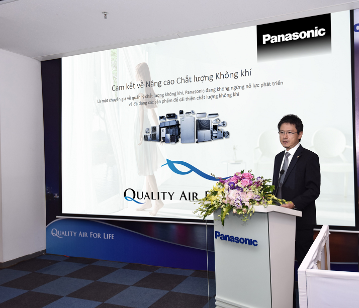 Mr. Kei Taniguchi, Director of Air Conditioners Department, Panasonic Sales Vietnam to introduce about Quality Air For Life solutions